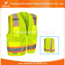 top quality vest with silver reflective tape